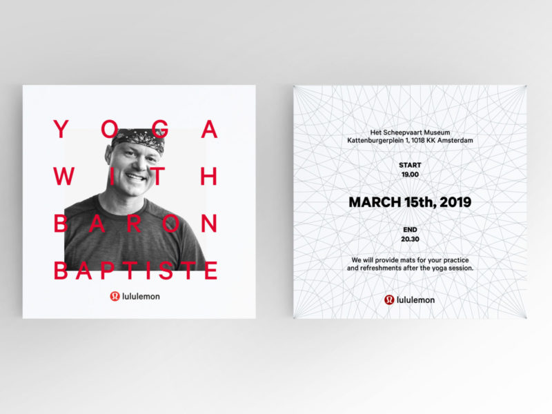 lululemon Einladungskarte Grafikdesign