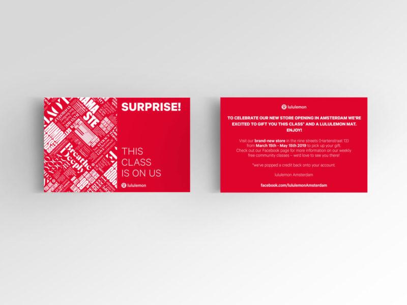 lululemon Einladungskarte